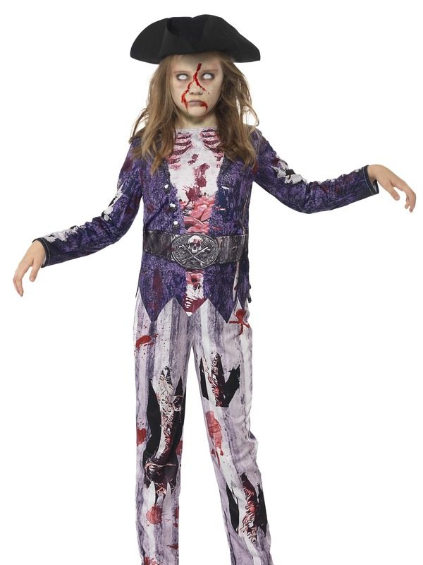 Halloween Clown Girl Outfit.Deluxe Jolly Rotten Pirate Girl Costume